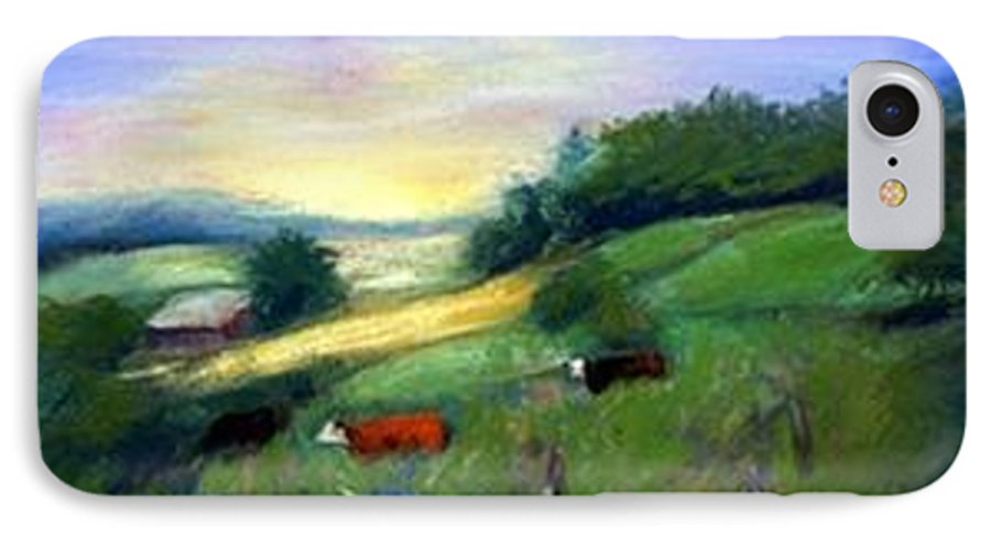 Landscape IPhone 7 Case featuring the painting Southern Ohio Farm by Gail Kirtz