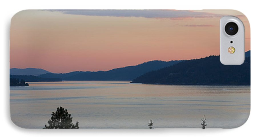 Sunset IPhone 7 Case featuring the photograph Southern Skies In Pink by Idaho Scenic Images Linda Lantzy