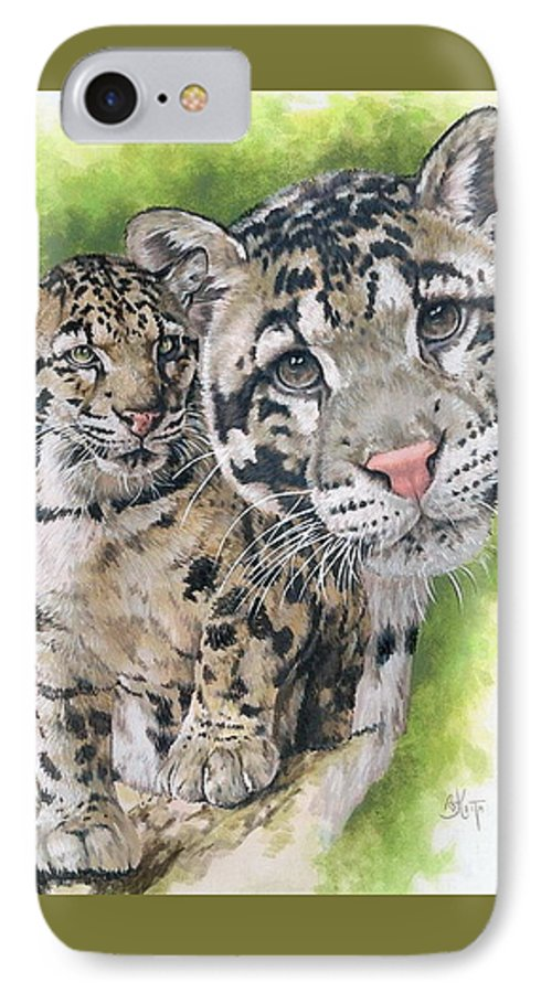 Clouded Leopard IPhone 7 Case featuring the painting Sovereignty by Barbara Keith