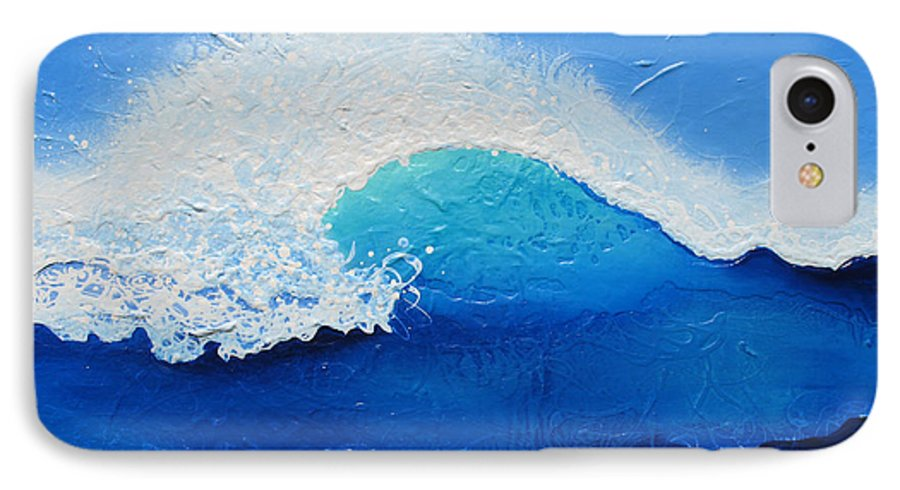 Contemporary IPhone 7 Case featuring the painting Spiral Wave by Jaison Cianelli