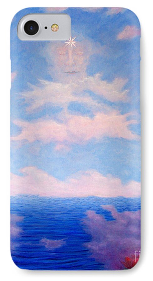 Buddha IPhone 7 Case featuring the painting Spirit Of The Lake by Brian Commerford