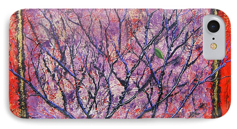 Nature IPhone 7 Case featuring the painting Spirit Tree 6 by Tami Booher