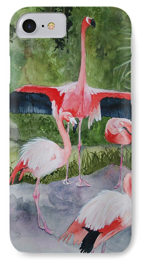 Wings IPhone 7 Case featuring the painting Spreading My Wings by Jean Blackmer