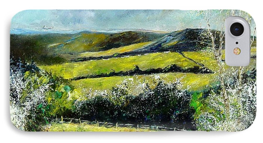 Landscape IPhone 7 Case featuring the print Spring 79 by Pol Ledent