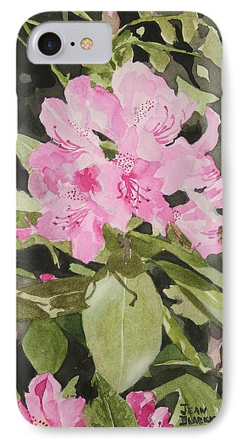 Flowers IPhone 7 Case featuring the painting Spring At The Cabin by Jean Blackmer