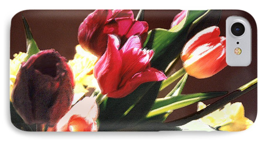 Floral Still Life IPhone 7 Case featuring the photograph Spring Bouquet by Steve Karol