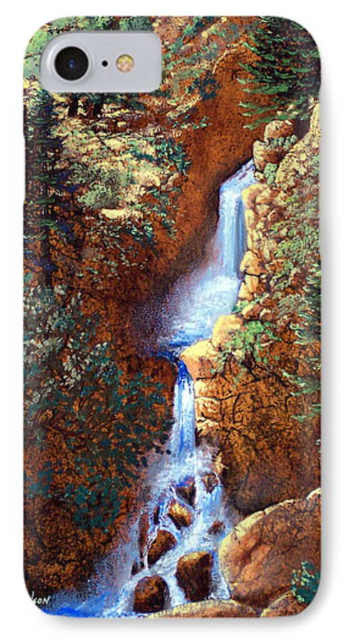 Wilderness IPhone 7 Case featuring the painting Spring Cascade by Frank Wilson