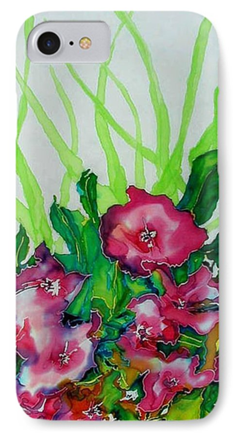 Flora IPhone 7 Case featuring the painting Spring Celebration 1 by Ferril Nawir