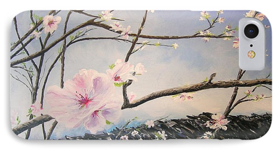 Flower IPhone 7 Case featuring the painting Spring Is In The Air by Lizzy Forrester