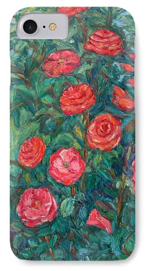 Rose IPhone 7 Case featuring the painting Spring Roses by Kendall Kessler