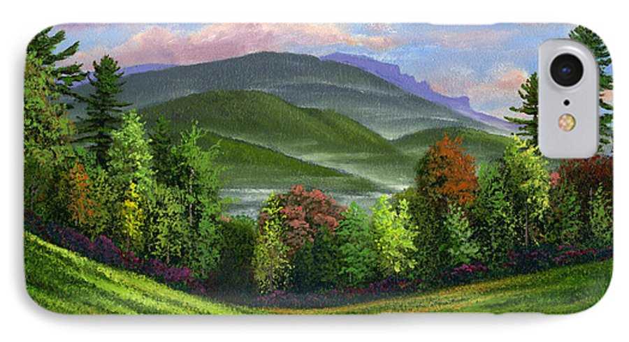 Landscape IPhone 7 Case featuring the painting Spring Time by Frank Wilson