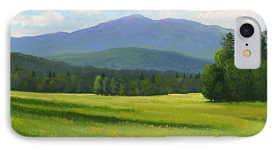 Landscape IPhone 7 Case featuring the painting Spring Vista by Frank Wilson