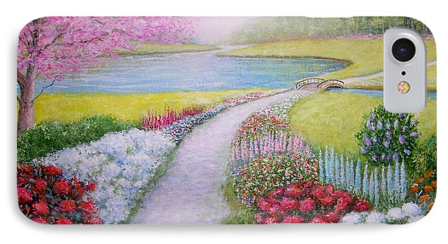 Landscape IPhone 7 Case featuring the painting Spring by William H RaVell III