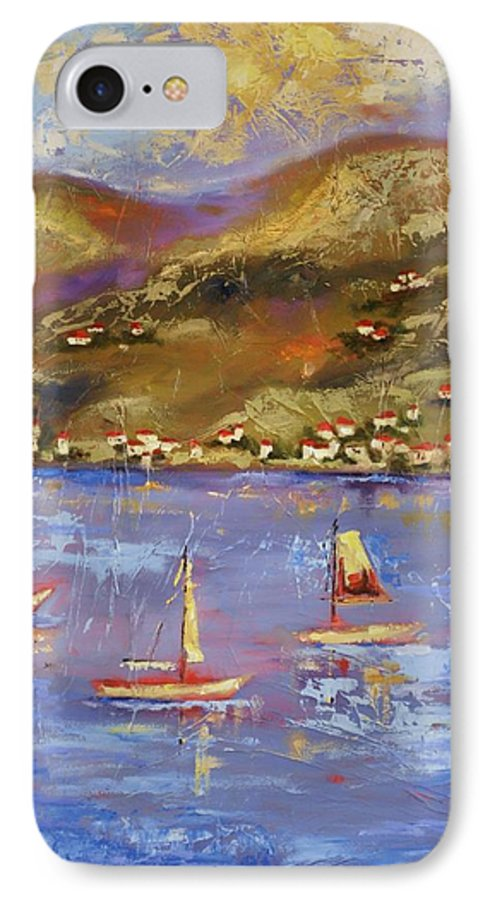 St. John IPhone 7 Case featuring the painting St. John Usvi by Ginger Concepcion