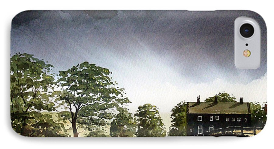 Landscape IPhone 7 Case featuring the painting Stainland Dean by Paul Dene Marlor