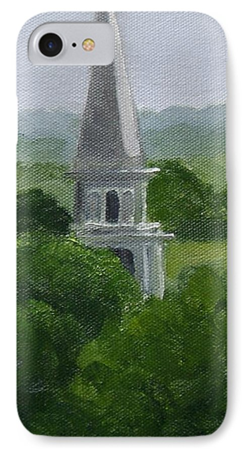 Steeple IPhone 7 Case featuring the painting Steeple by Toni Berry
