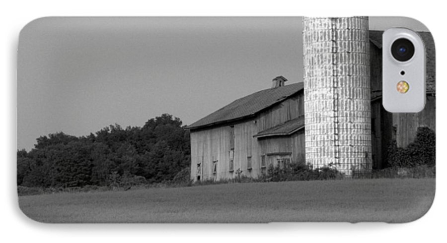 Barn IPhone 7 Case featuring the photograph Still Here by Rhonda Barrett