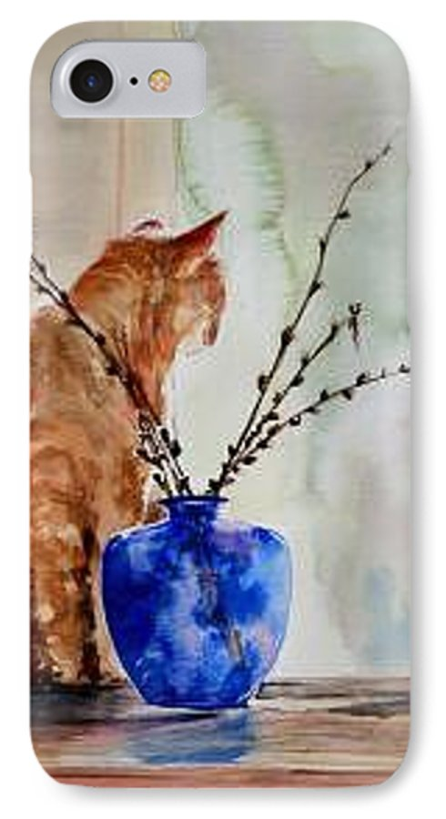 Cat IPhone 7 Case featuring the painting Still Life by Lynee Sapere