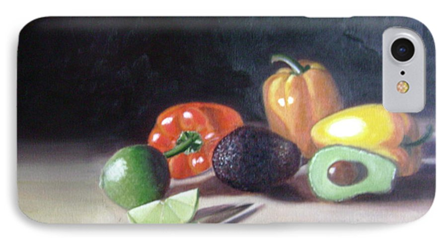IPhone 7 Case featuring the painting Still-life by Toni Berry