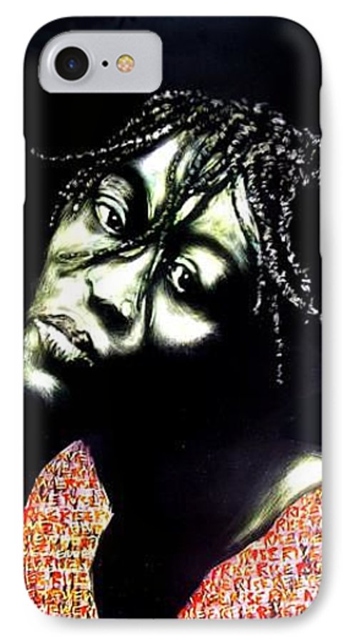 IPhone 7 Case featuring the mixed media Still We Rise by Chester Elmore