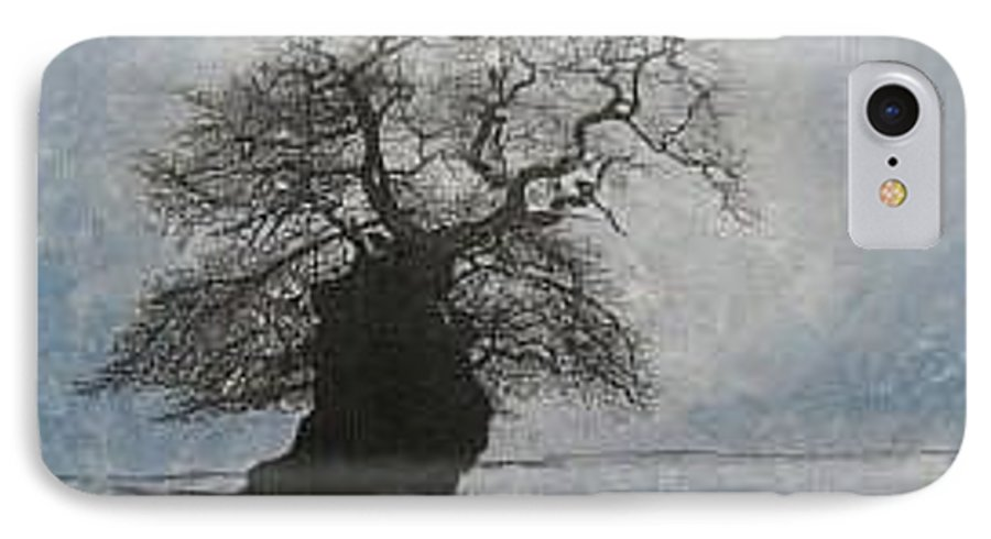 Silhouette IPhone 7 Case featuring the painting Stilton Silhouette by Leah Tomaino