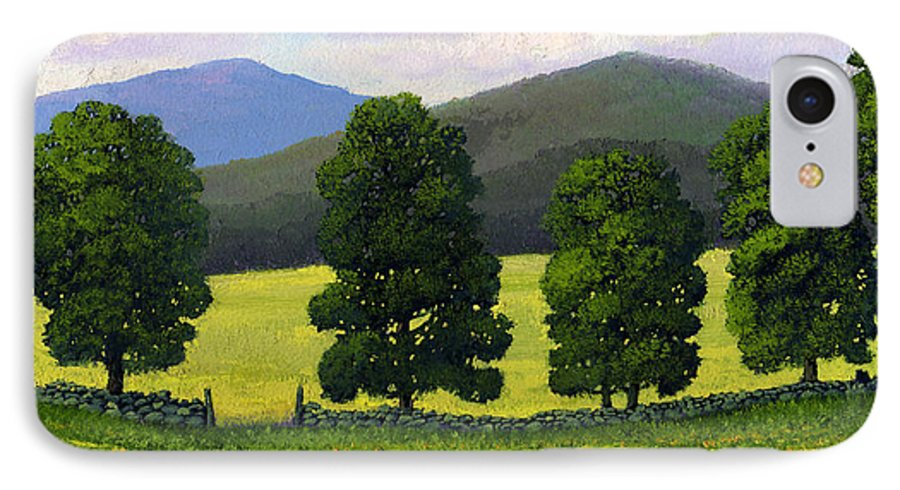 Landscape IPhone 7 Case featuring the painting Stonewall Field by Frank Wilson