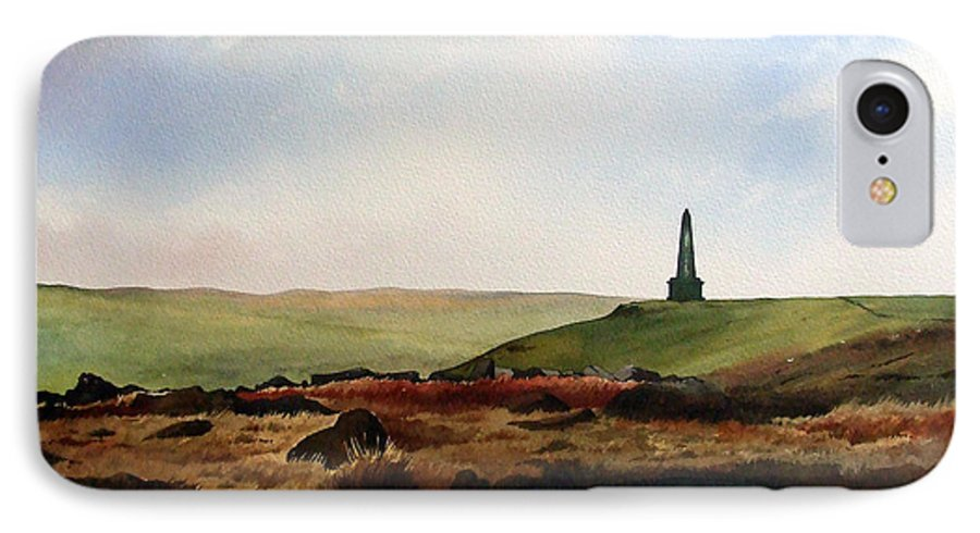 Landscape IPhone 7 Case featuring the painting Stoodley Pike by Paul Dene Marlor