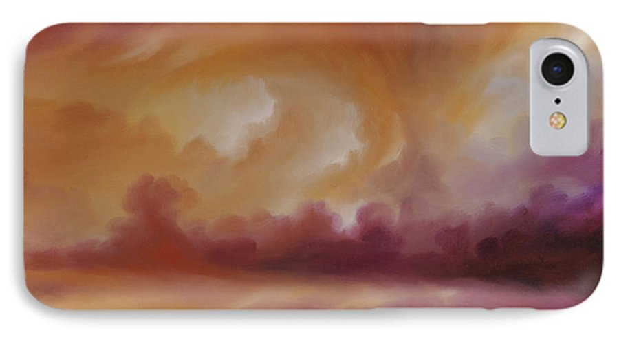 Tempest IPhone 7 Case featuring the painting Storm Clouds 2 by James Christopher Hill