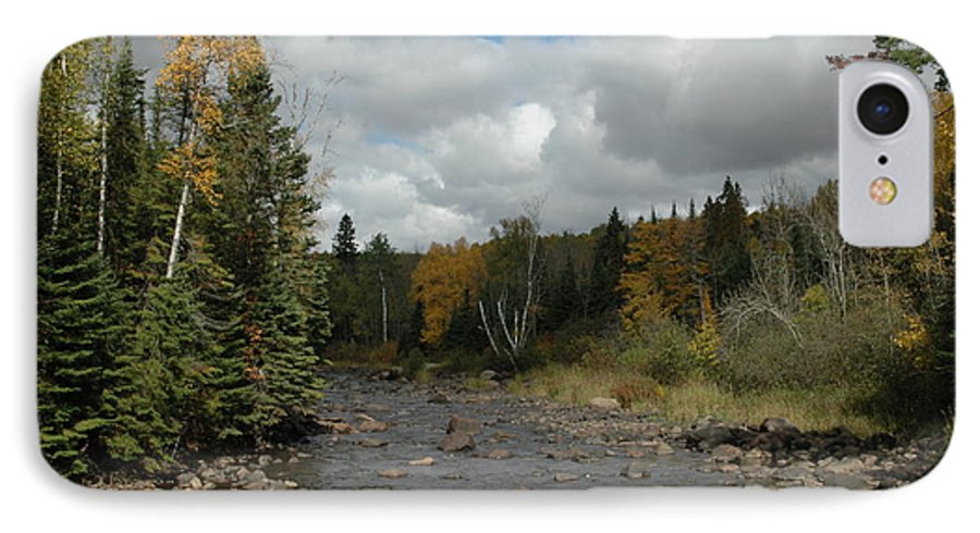 Nature IPhone 7 Case featuring the photograph Stream At Tettegouche State Park by Kathy Schumann