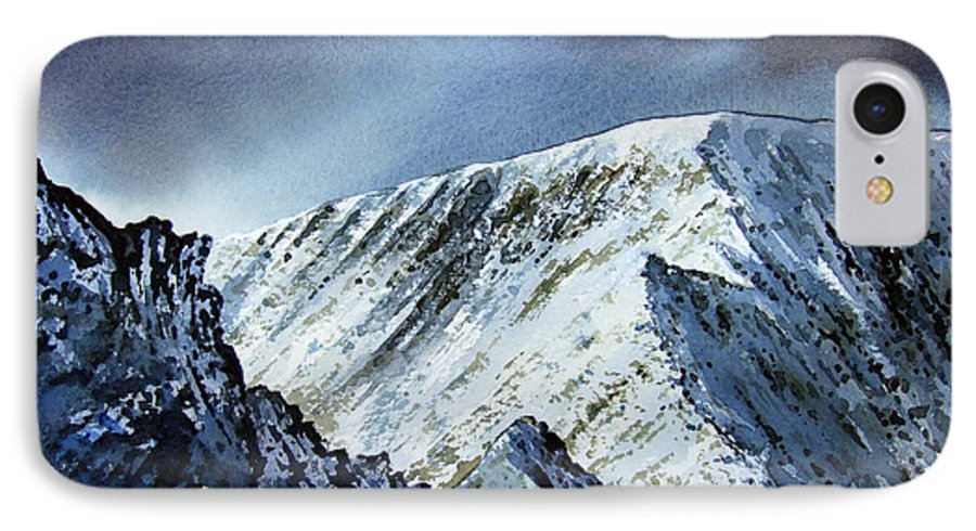 Mountain IPhone 7 Case featuring the painting Striding Edge On Helvellin by Paul Dene Marlor