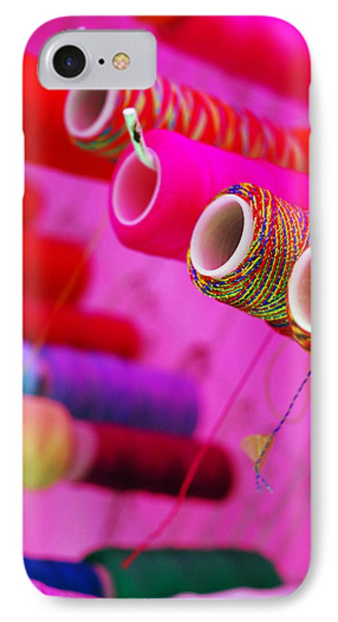 Color IPhone 7 Case featuring the photograph String Theory by Skip Hunt