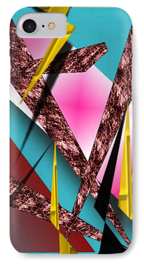 Abstracts IPhone 7 Case featuring the digital art Structure by Brenda L Spencer