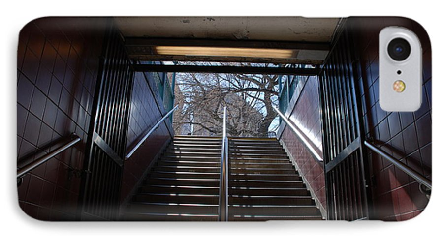 Pop Art IPhone 7 Case featuring the photograph Subway Stairs To Freedom by Rob Hans