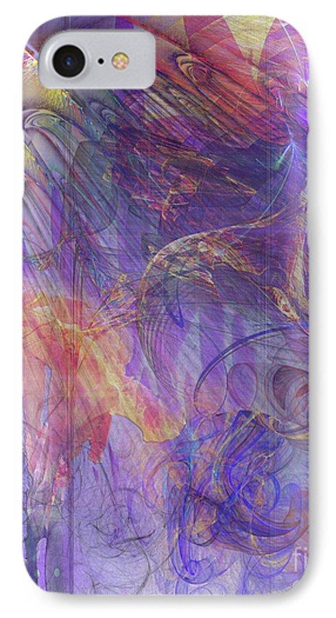 Summer Awakes IPhone 7 Case featuring the digital art Summer Awakes by John Beck