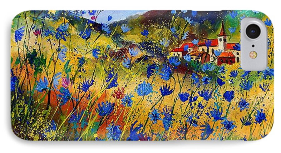 Flowers IPhone 7 Case featuring the painting Summer Glory by Pol Ledent