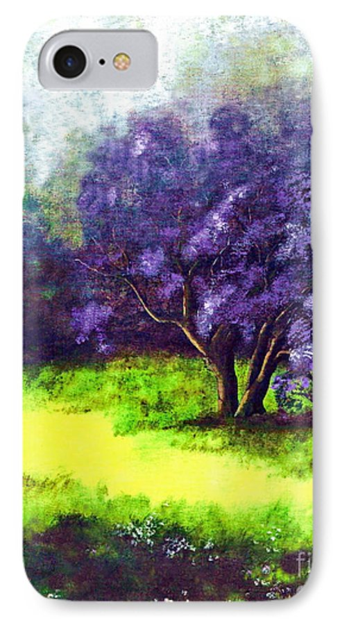Fine Art Print IPhone 7 Case featuring the painting Summer Mist by Patricia Griffin Brett