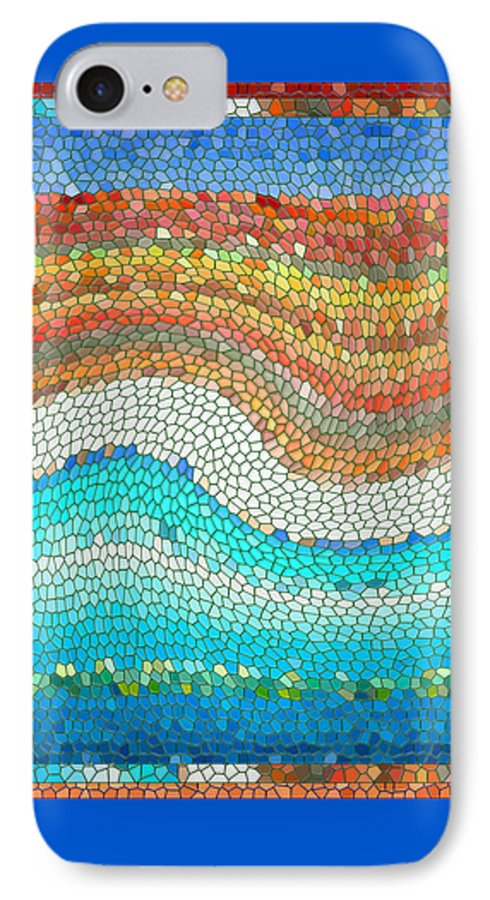 Colorful IPhone 7 Case featuring the digital art Summer Mosaic by Melissa A Benson