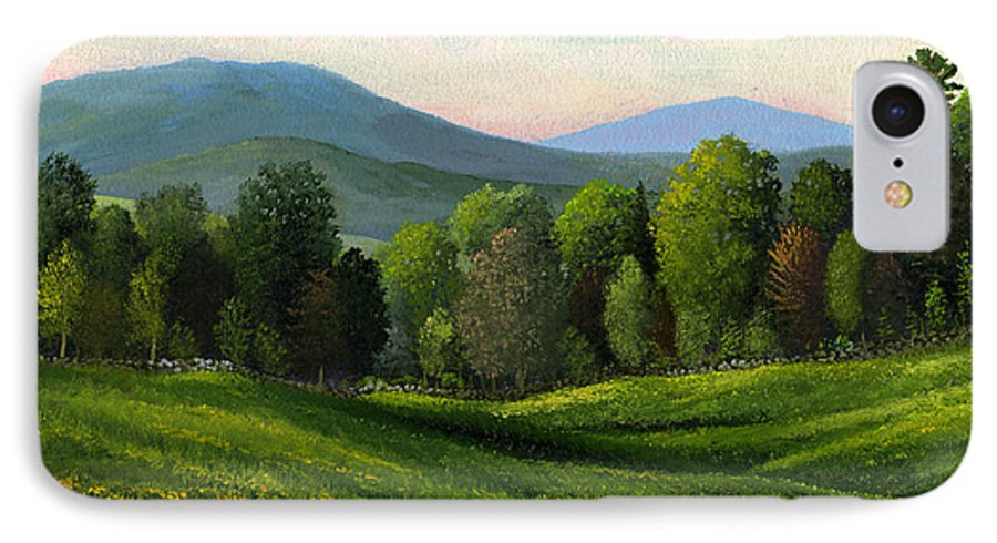 Landscape IPhone 7 Case featuring the painting Summers Ending by Frank Wilson