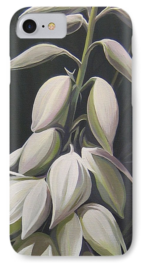 Yucca Plant IPhone 7 Case featuring the painting Summersilver by Hunter Jay