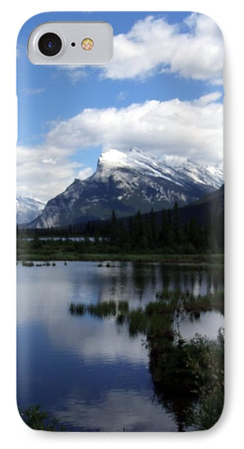 Landscape IPhone 7 Case featuring the photograph Summertime In Vermillion Lakes by Tiffany Vest