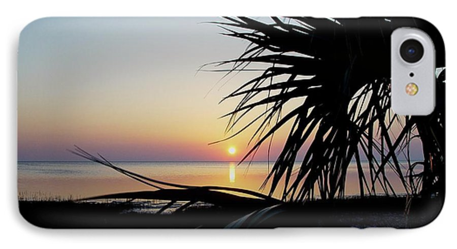 Sunset IPhone 7 Case featuring the photograph Sun Touched by Debbie May