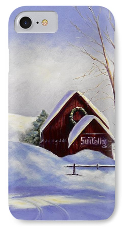 Landscape IPhone 7 Case featuring the painting Sun Valley 2 by Shannon Grissom