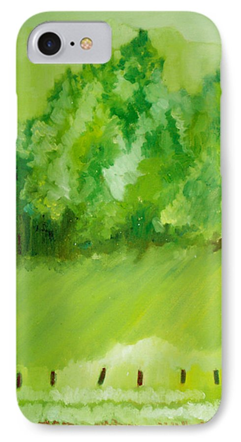 Spring IPhone 7 Case featuring the painting Sunday At Two Thirty by Seth Weaver