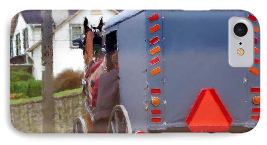 Amish IPhone 7 Case featuring the photograph Sunday Courting by Debbi Granruth