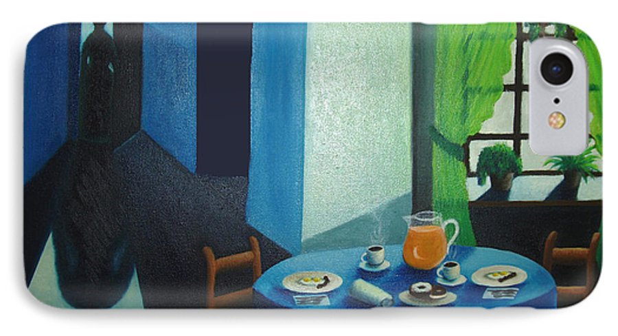 Breakfast IPhone 7 Case featuring the painting Sunday Morning Breakfast by Nancy Mueller