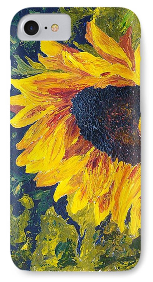 IPhone 7 Case featuring the painting Sunflower by Tami Booher