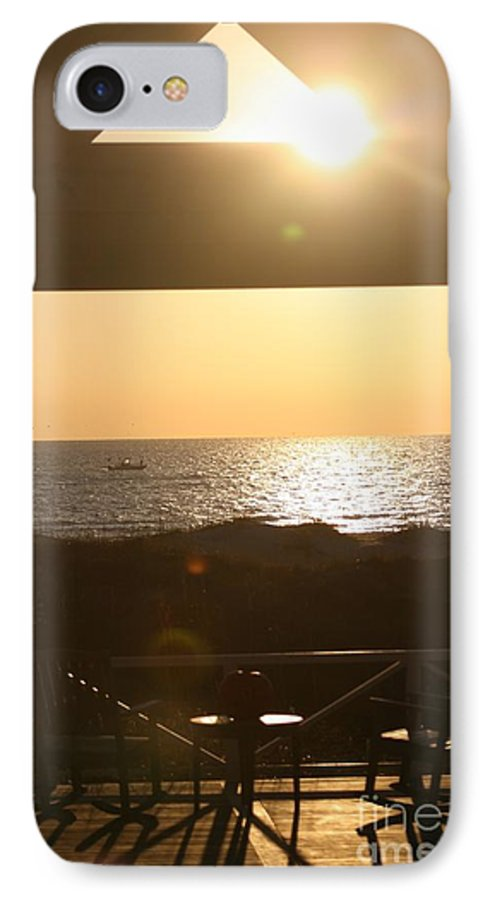 Sunrise IPhone 7 Case featuring the photograph Sunrise Through The Pavilion by Nadine Rippelmeyer