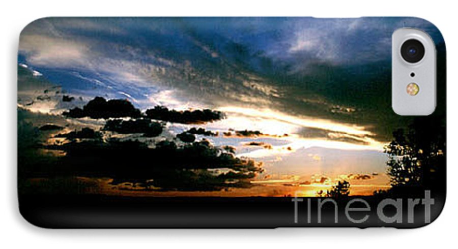 Sunset IPhone 7 Case featuring the photograph Sunset At The North Rim by Kathy McClure