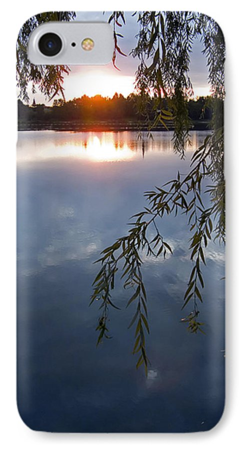 Nature IPhone 7 Case featuring the photograph Sunset by Daniel Csoka