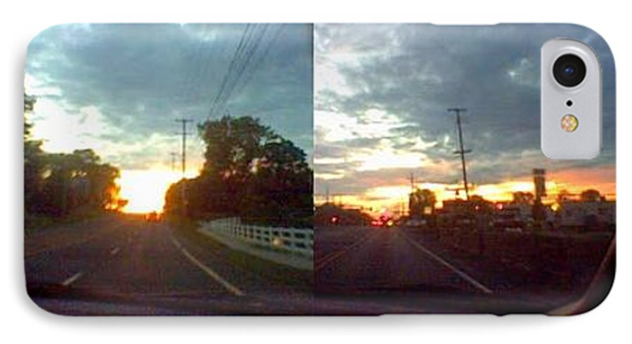 Sky IPhone 7 Case featuring the photograph Sunset In Sequence by Pharris Art